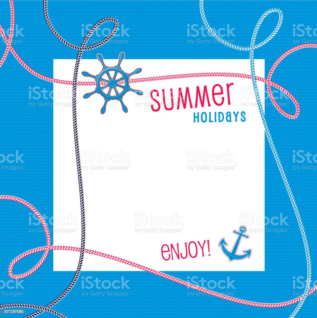 Marine Invitation vector art illustration