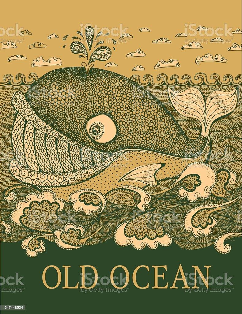 marine life animal sketch. - ilustração de arte em vetor