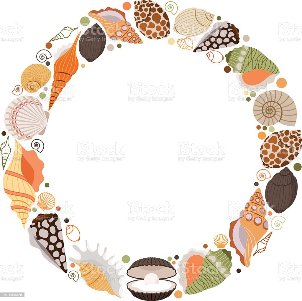 Marine life wreath icon marine life wreath icon - immagini vettoriali stock e altre immagini di ambiente royalty-free