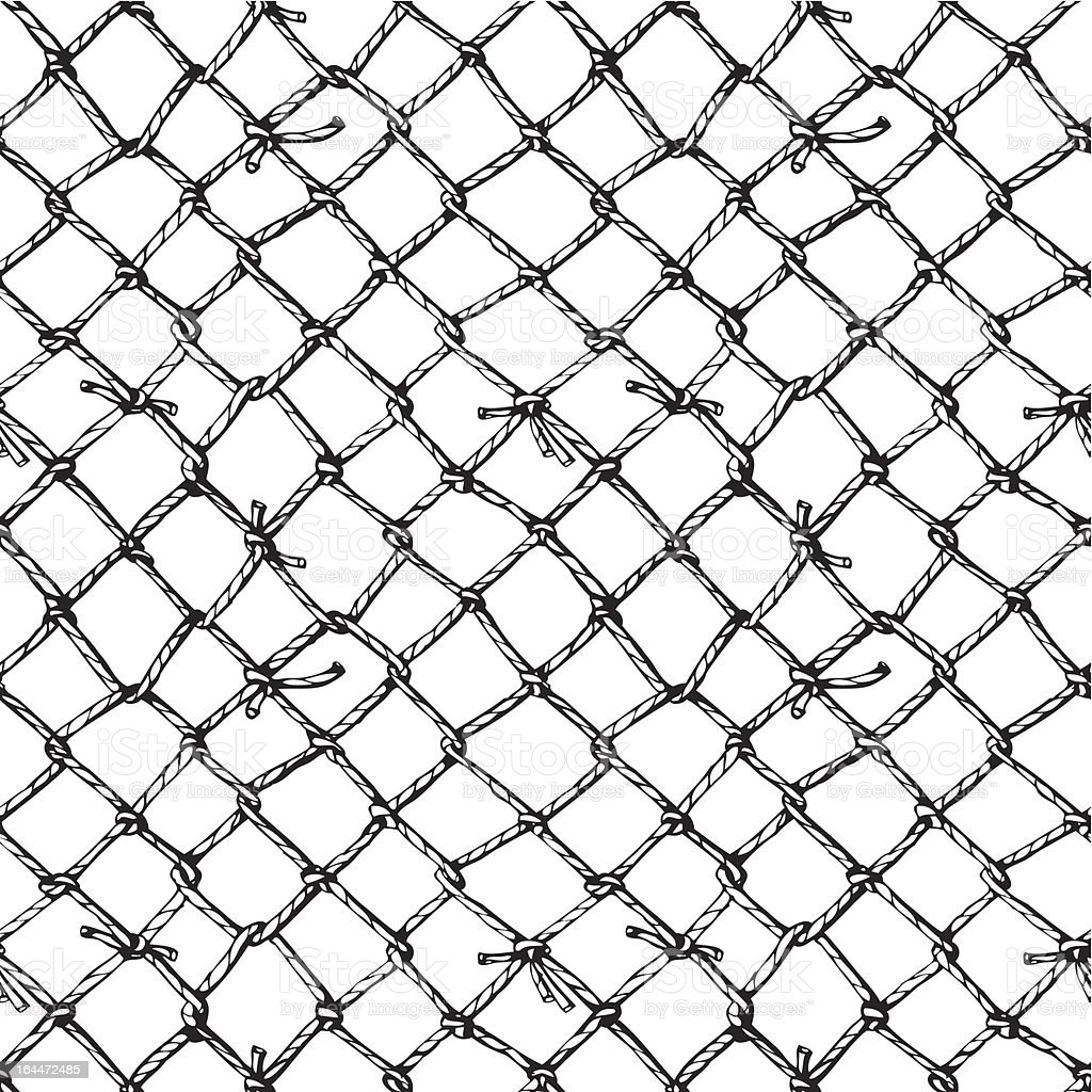 marine net vector art illustration