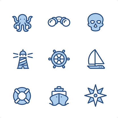 Marine - Pixel Perfect Blue icons