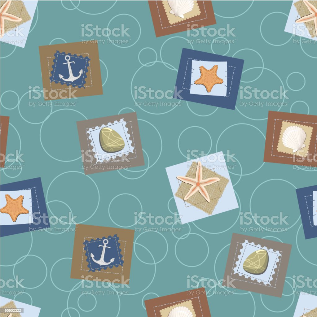 Marine seamless pattern. Vector royalty-free marine seamless pattern vector stock vector art & more images of anchor - vessel part