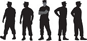 Marine Soldier Silhouettes