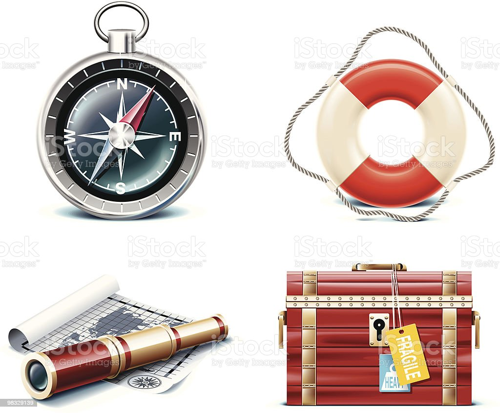 Marine travel icons royalty-free marine travel icons stock vector art & more images of a helping hand