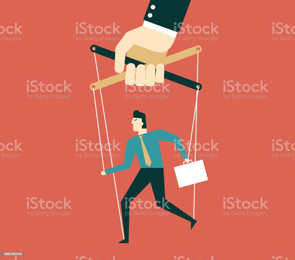 Marionette - Businessman vector art illustration