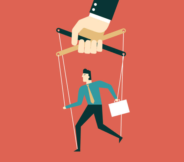 marionette - businessman - kukiełka stock illustrations