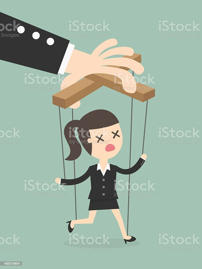 marionette vector art illustration