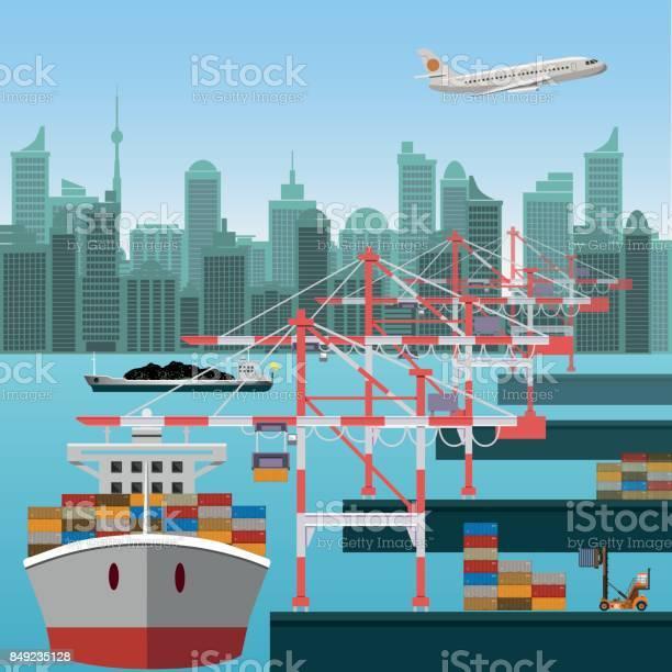Maritime container terminal vector id849235128?b=1&k=6&m=849235128&s=612x612&h= nov49yexmjoq7joyggzzb2ryh5njbgr  1piwh gi8=