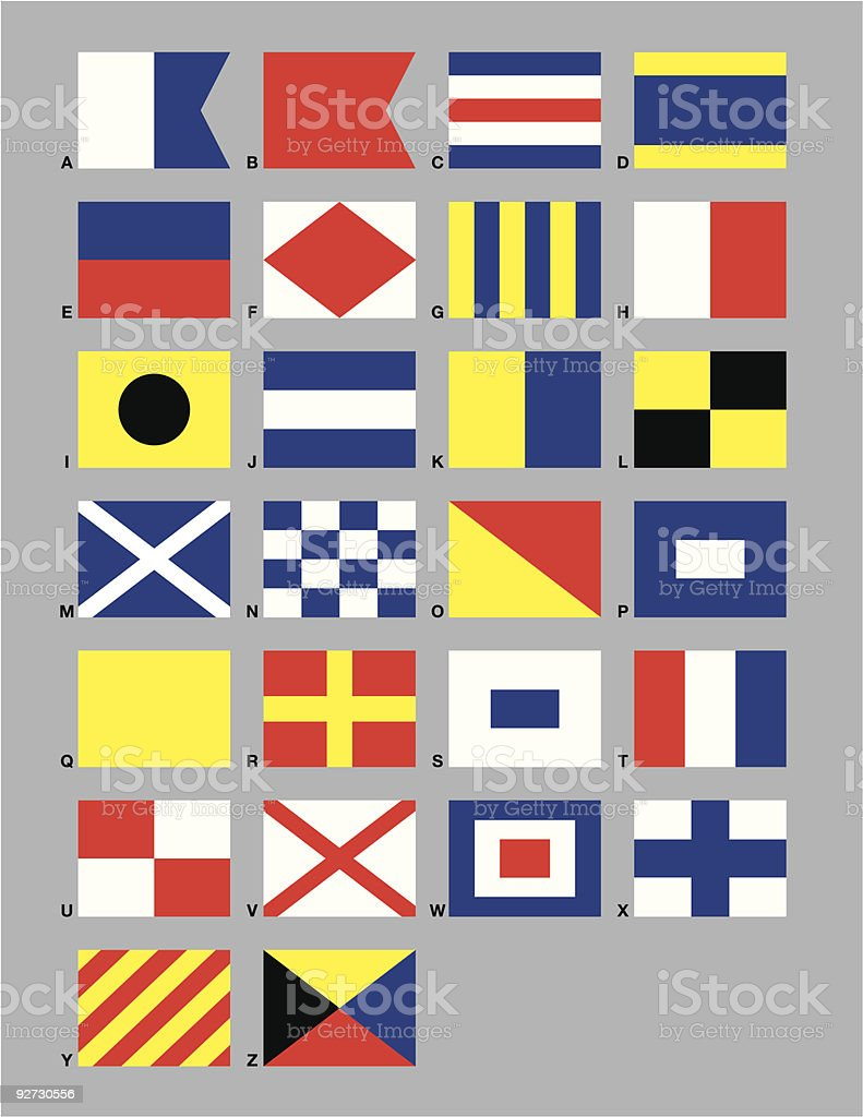 Maritime Signal Flags vector art illustration