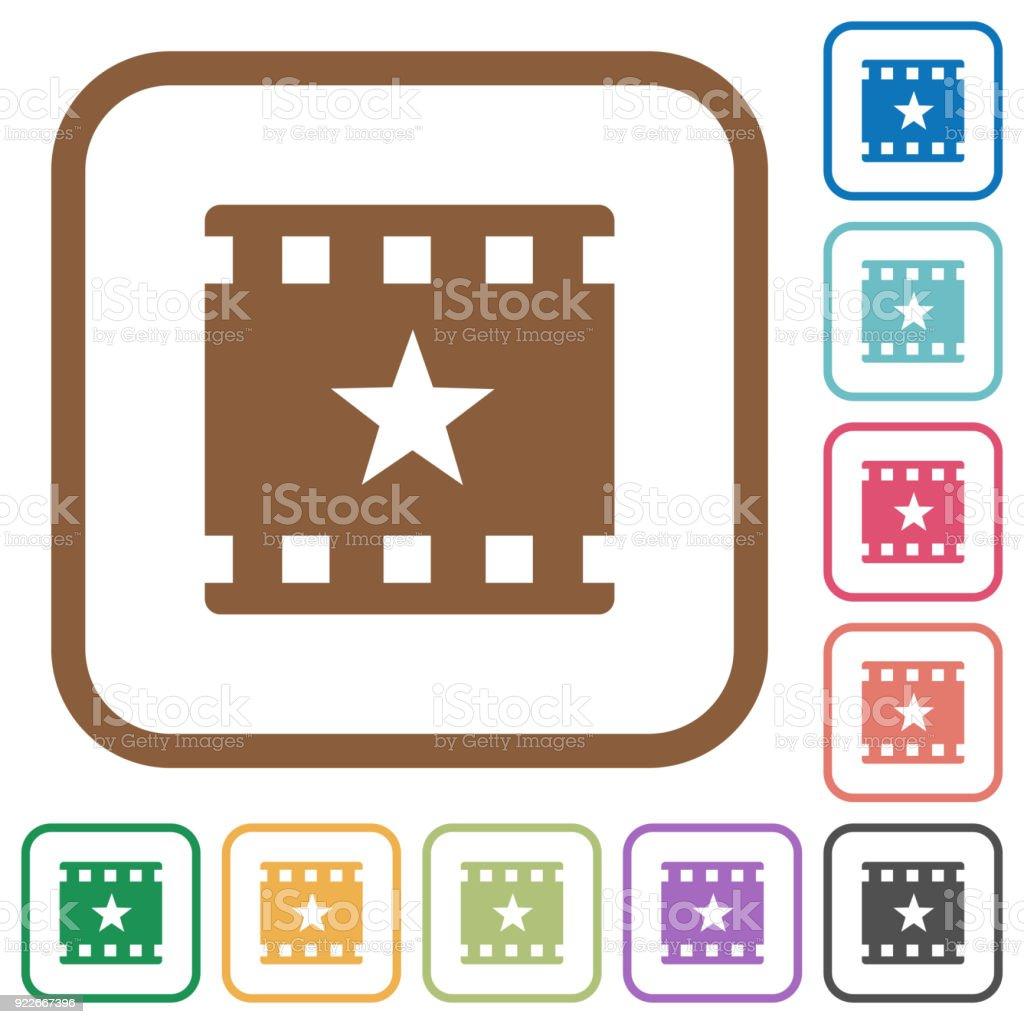 Film Einfache Symbole Markieren Stock Vektor Art und mehr Bilder von ...