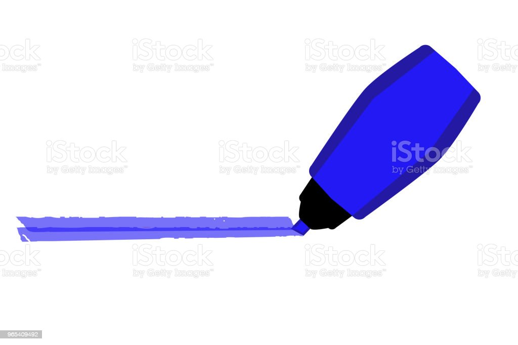Mark with Blue Marker royalty-free mark with blue marker stock vector art & more images of no people