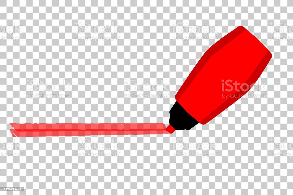 Mark with Red Marker at transparent effect background mark with red marker at transparent effect background - stockowe grafiki wektorowe i więcej obrazów bez ludzi royalty-free