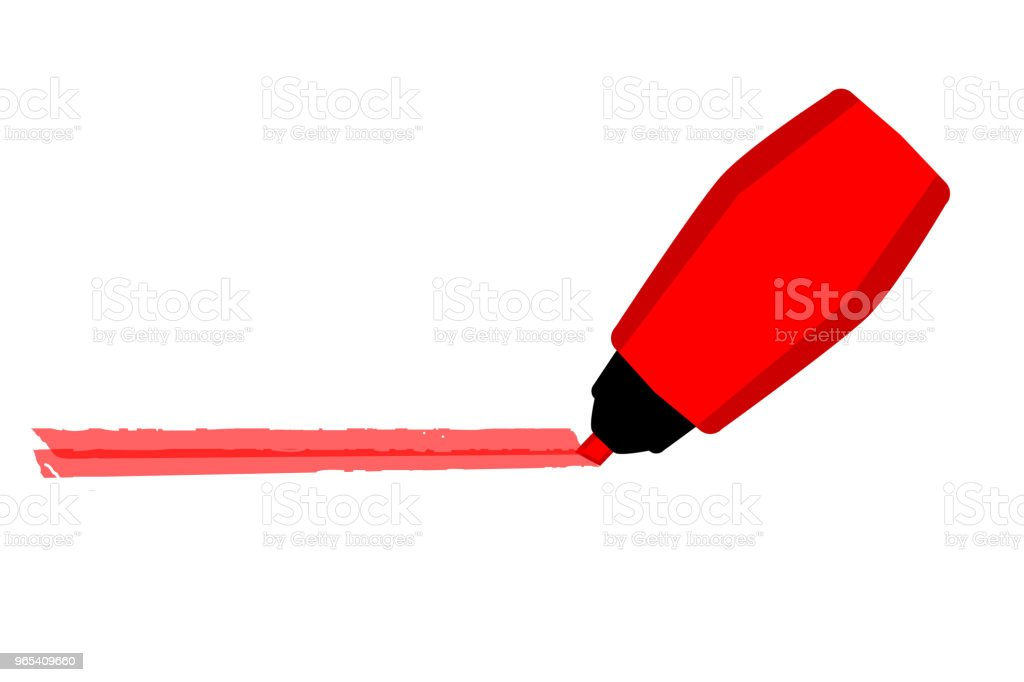 Mark with Red Marker royalty-free mark with red marker stock vector art & more images of no people
