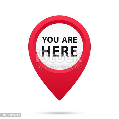 istock Marker and pointer icon. Iocation indicator. You are here sign icon mark location pointer pin. Destination or location point concept. Vector illustration. EPS-10 1312185245