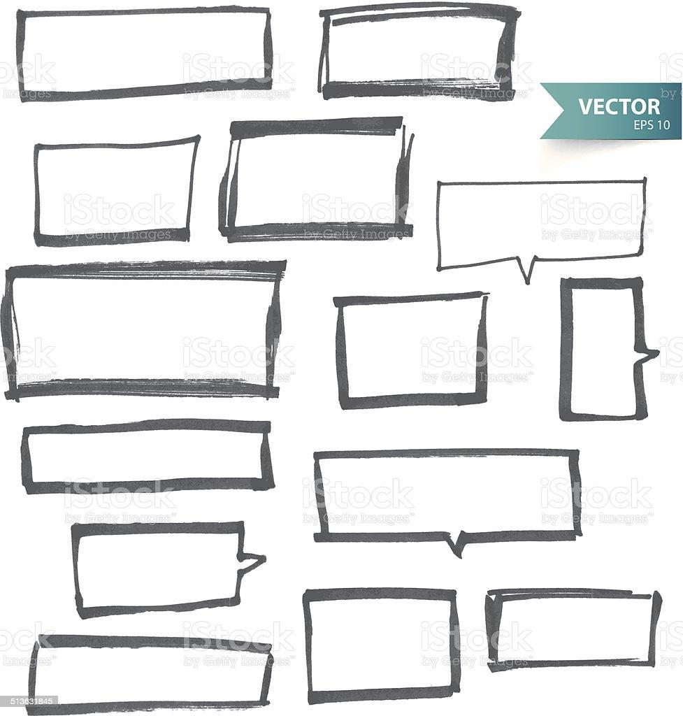 Marcador de banners - ilustración de arte vectorial