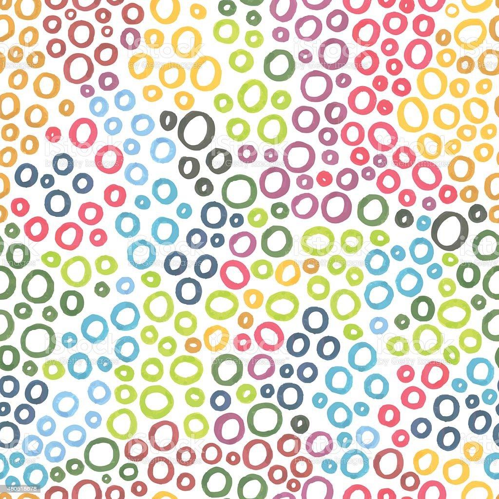 Marker circle pattern vector art illustration