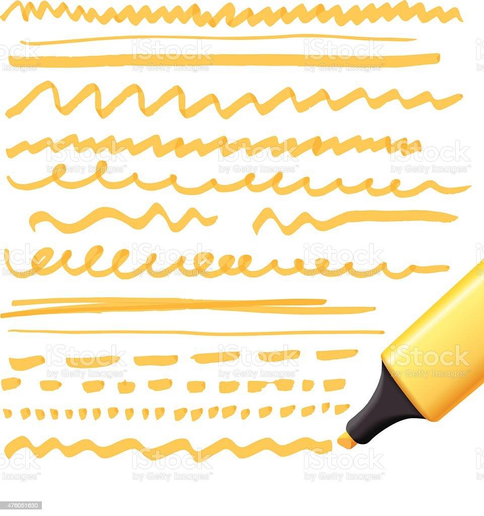 marker drawing series vector art illustration