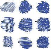 Marker hand drawn grunge backgrounds. Vector illustration