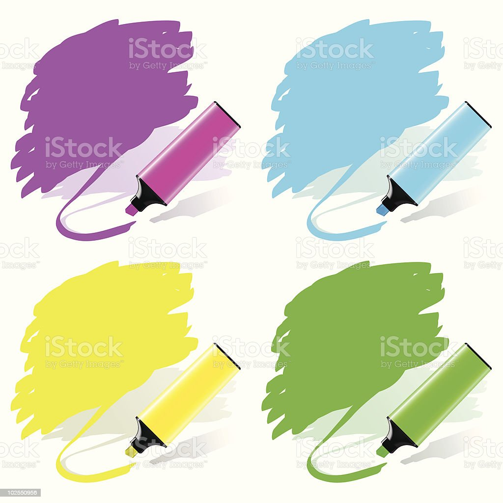 Marker labels set royalty-free stock vector art