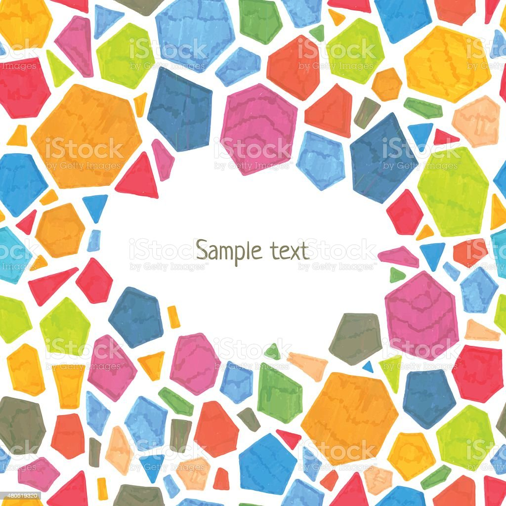 Marker polygonal template royalty-free marker polygonal template stock vector art & more images of 2015