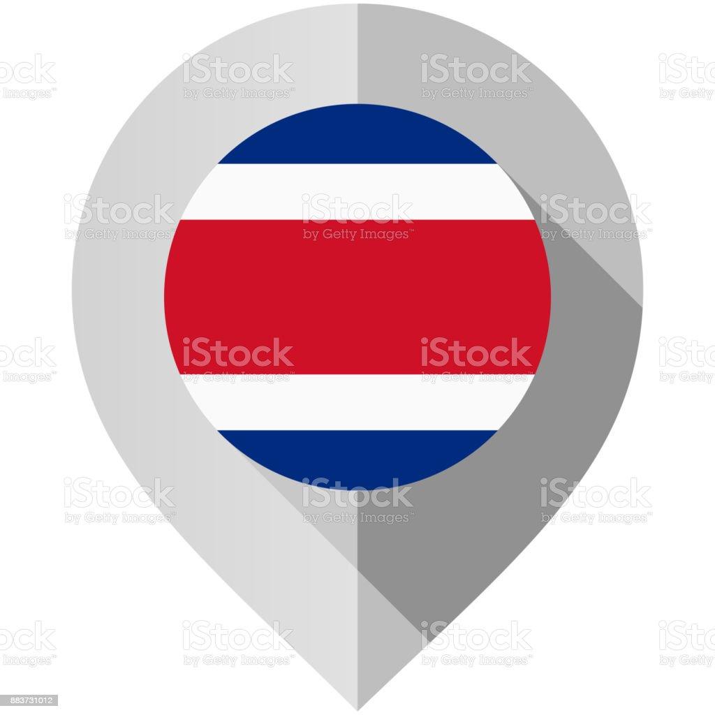 Marcador com bandeira para mapa - ilustração de arte em vetor