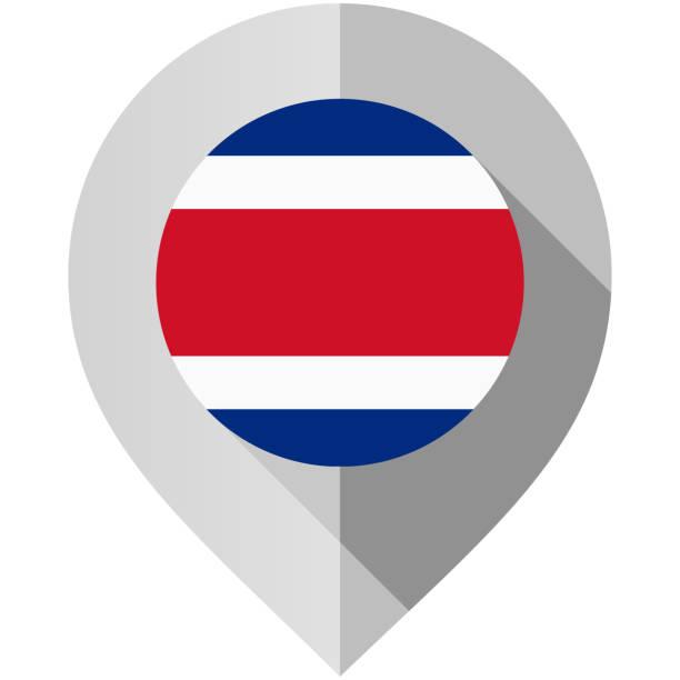 Marker mit Flagge für Karte – Vektorgrafik