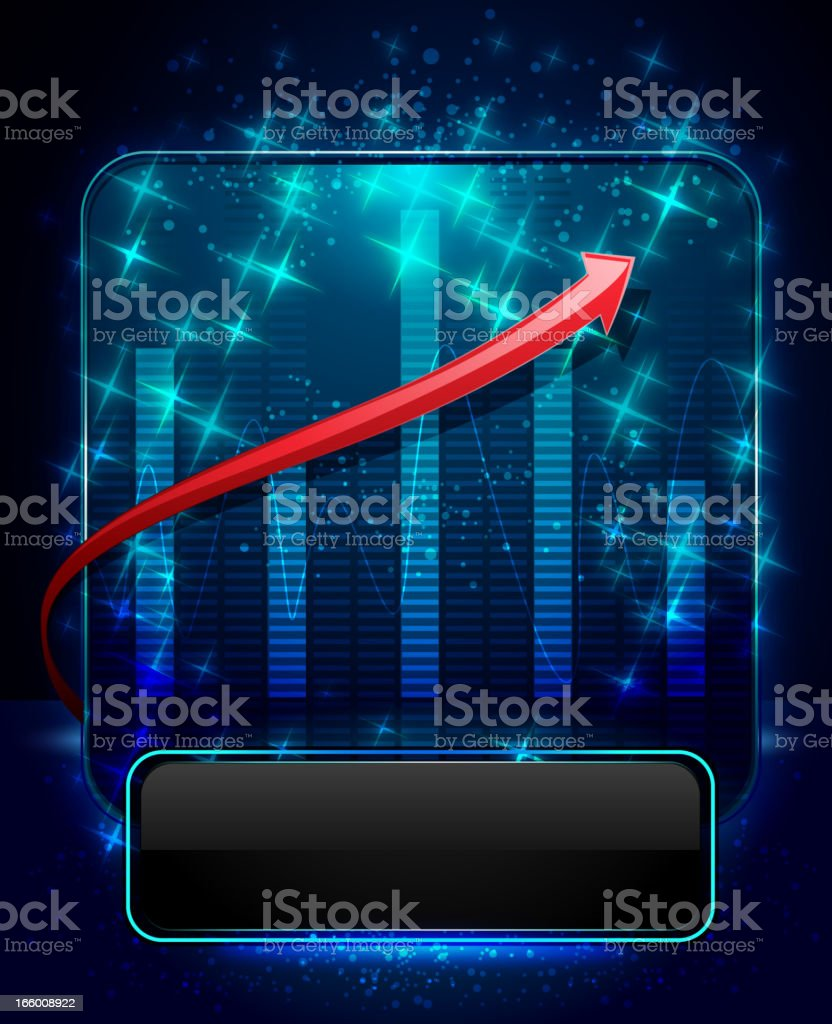 Market Analysis with Display royalty-free stock vector art