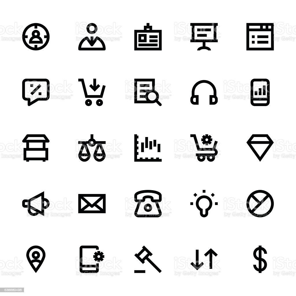 Market and Economics Vector Icons 3