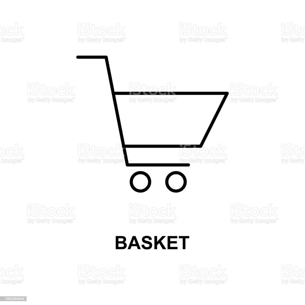 Market Basket Icon Element Of Simple Web Icon With Name For Mobile