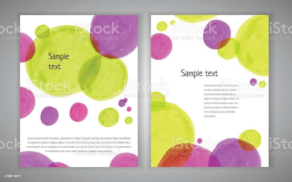 Market circle design template vector art illustration