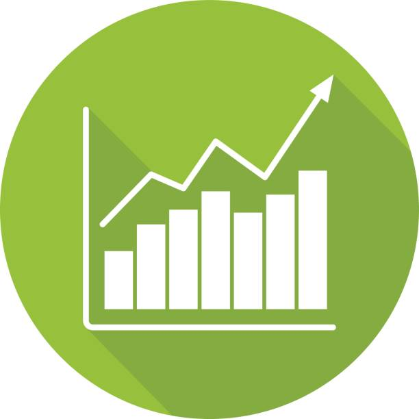 diagrammsymbol markt wachstum - messlatte stock-grafiken, -clipart, -cartoons und -symbole