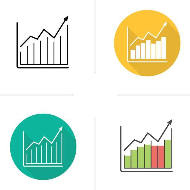 diagrammsymbole markt wachstum - messlatte stock-grafiken, -clipart, -cartoons und -symbole
