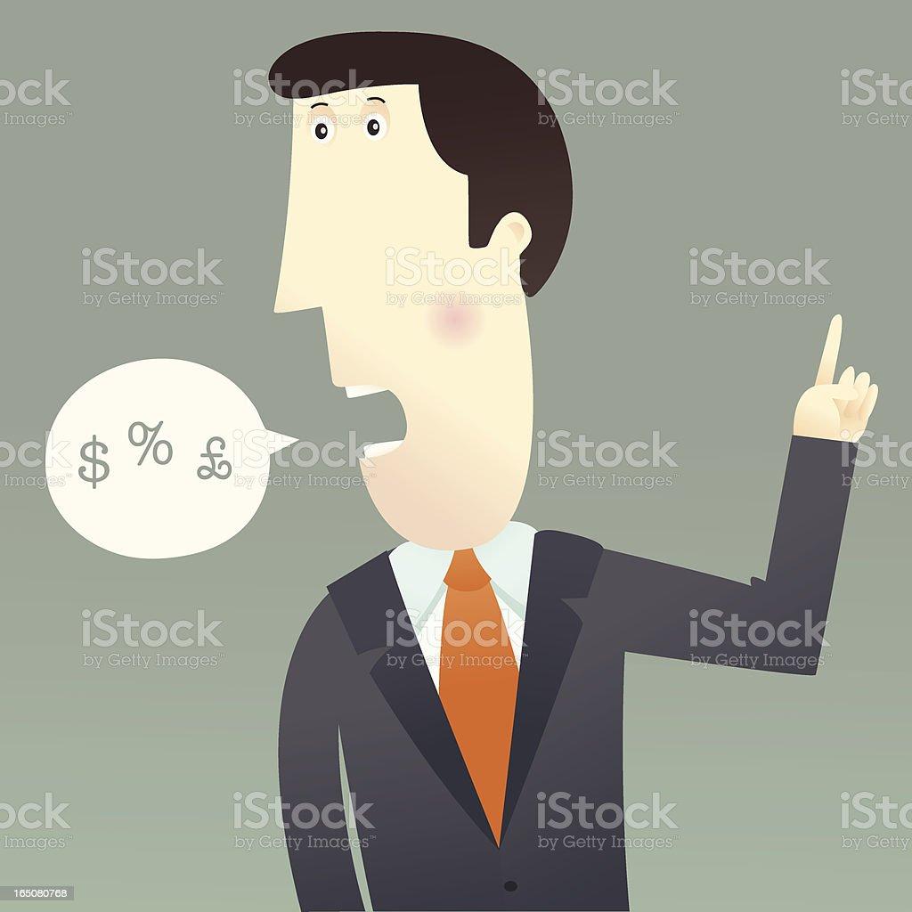 Market Man royalty-free stock vector art