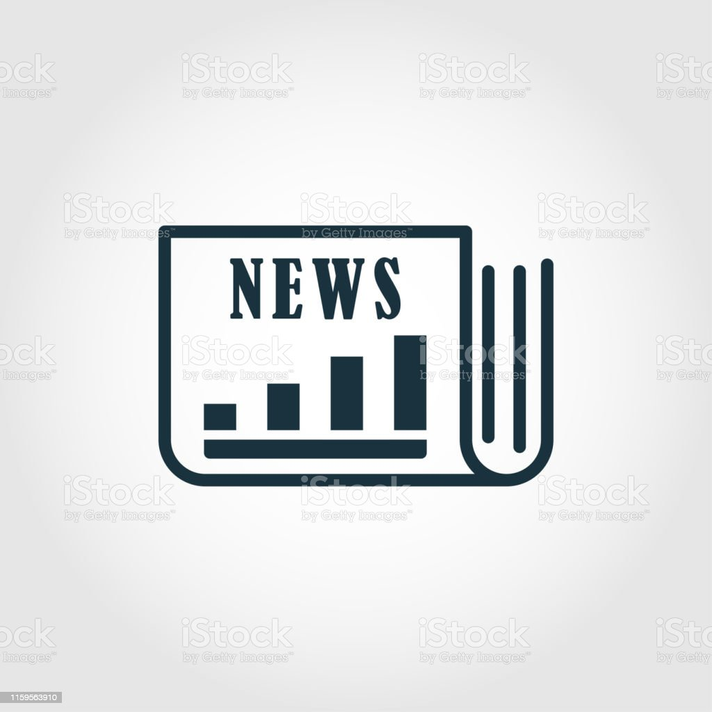 Market News vector icon illustration. Creative sign from advertising...