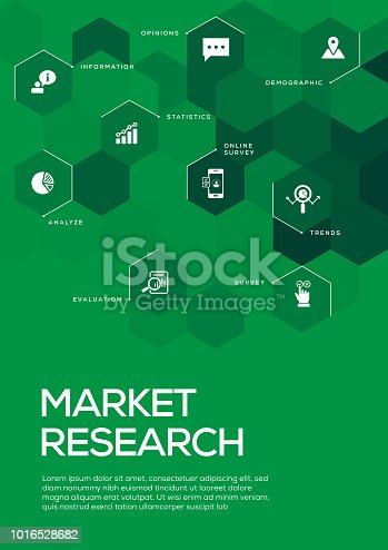 Market Research. Brochure Template Layout, Cover Design