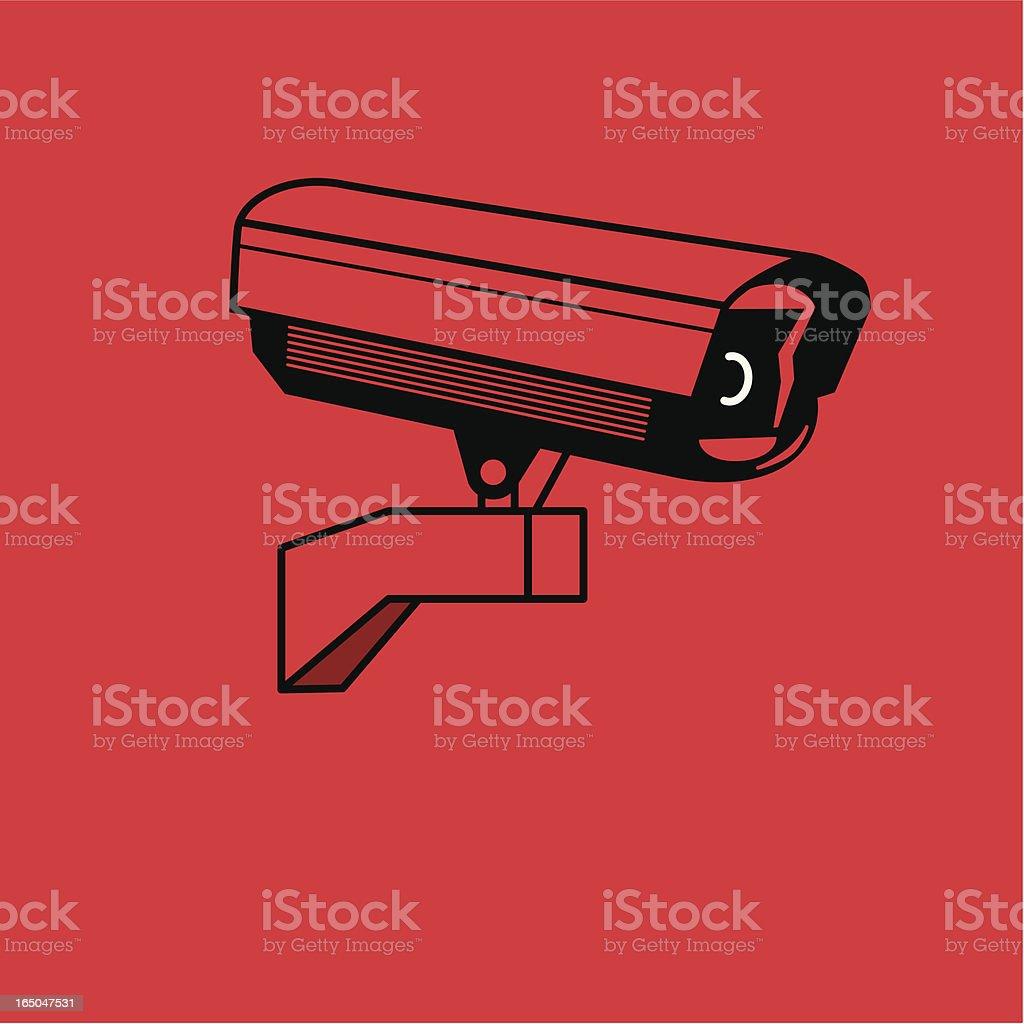Market Research CCTV vector art illustration