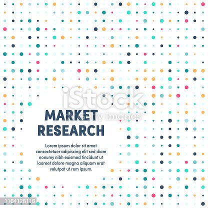 Trendy and artistic design for market research. Eye catching vector illustration template to boost website, app, presentation or poster design.