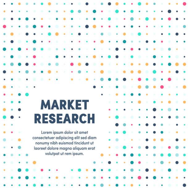 marktforschung moderne & künstlerische gestaltungsvorlage - büro zukunft und niemand stock-grafiken, -clipart, -cartoons und -symbole