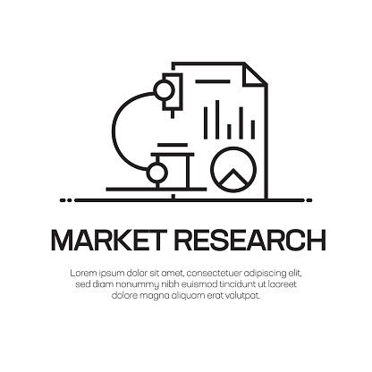 Market Research Vector Line Icon - Simple Thin Line Icon, Premium Quality Design Element
