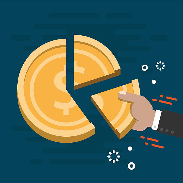 Market Share Business Concept Vector vector art illustration