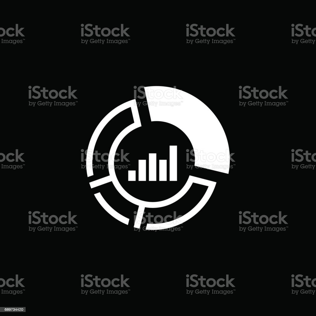 Market Share Icon. Business Concept. Flat Design vector art illustration