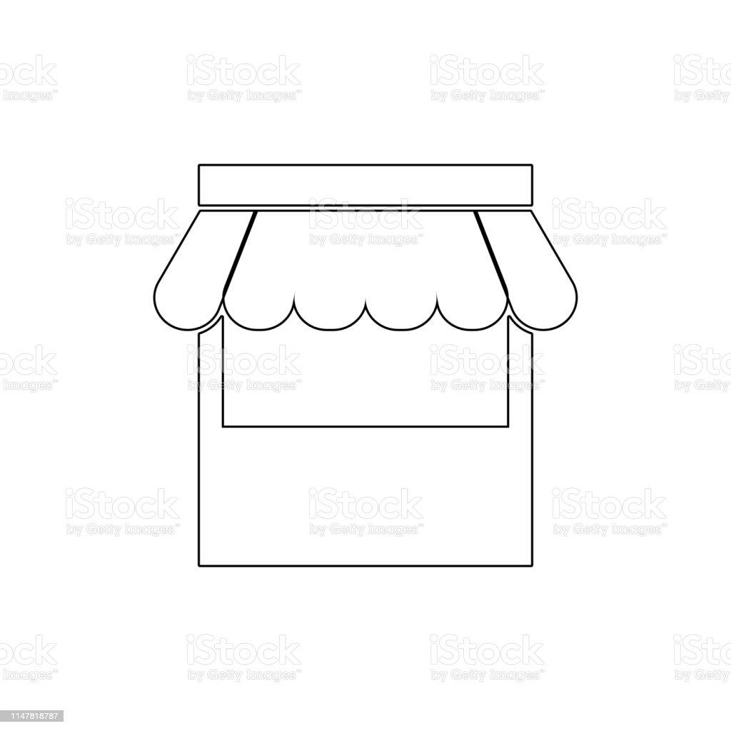 market shop store web shop web store outline icon. Signs and symbols...