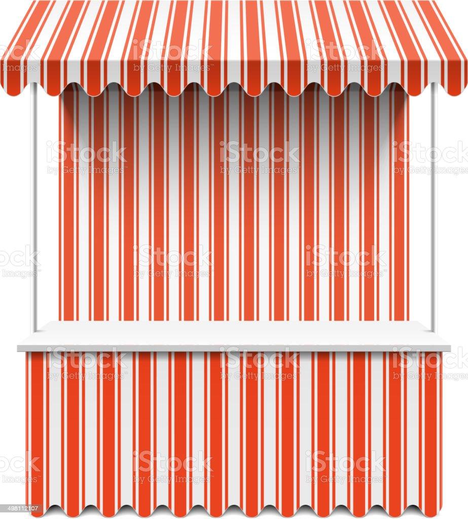 Market stall vector art illustration