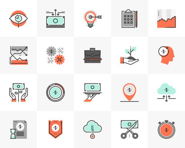 Market Strategy Futuro Next Icons Pack vector art illustration
