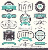 Marketing badges and vintage frame set
