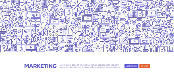 marketing banner - digital marketing stock illustrations