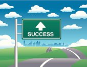 Marketing business concept: Road to Success Illustration