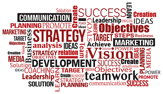 marketing business success concept word tag cloud illustration vector eps.10