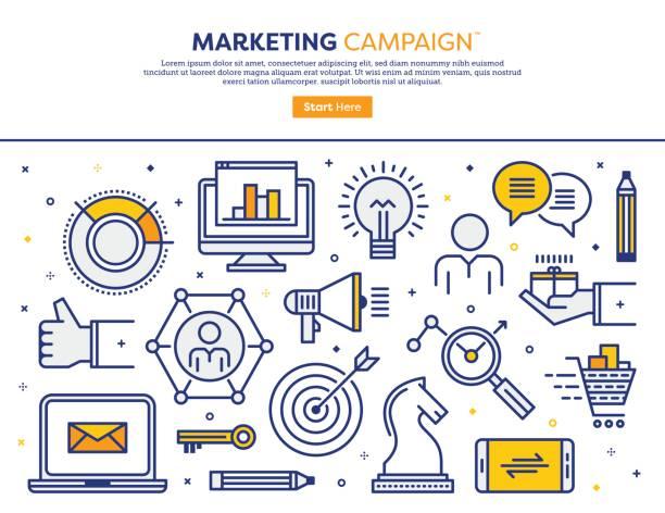 マーケティング キャンペーンの概念 - business icon eps点のイラスト素材/クリップアート素材/マンガ素材/アイコン素材