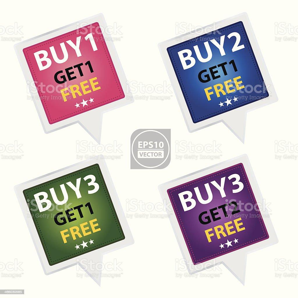 Marketing Campaign Sticker set. royalty-free stock vector art
